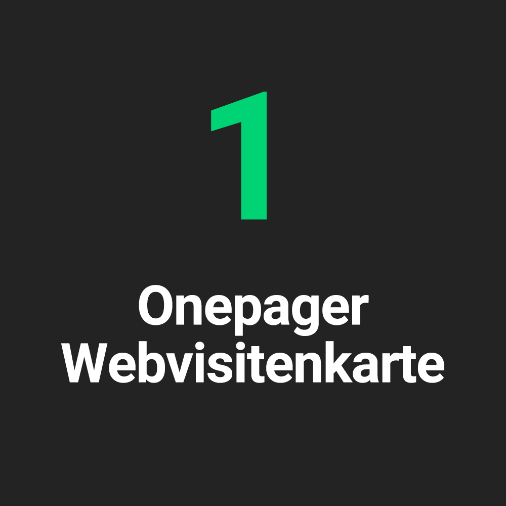 Onepager Digitale Visitenkarte Für Firmen Digitalkult